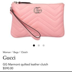 Authentic GUCCI Marmont leather clutch